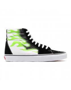 Vans Sk8-HI Flame - Black/True White
