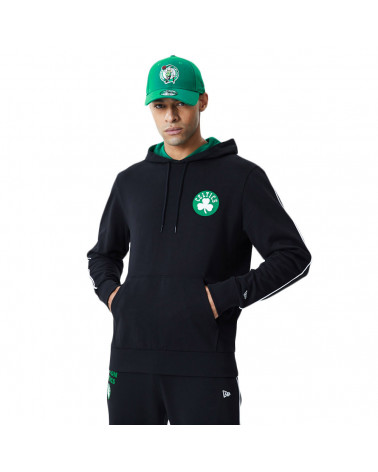 New Era Felpa NBA Pipping Hoody Boston Celtic - Black
