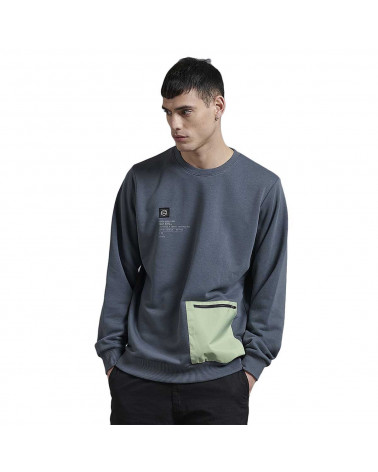 Dolly Noire Felpa Mint Pocket Storm Crewneck