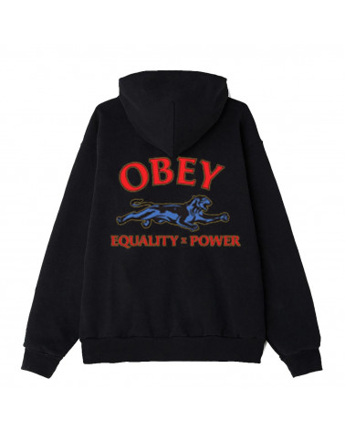 Obey Sweatshirt Obey Equality X Power Hood - Black