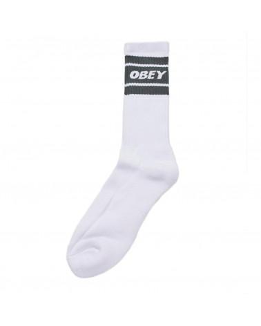 Obey Calze Cooper II Socks - White/Park Green