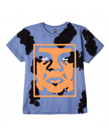 Obey T-Shirt Paper Cut Heavyweight Cow Tie Dye
