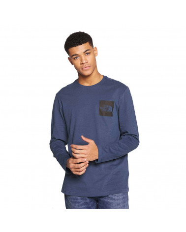 The North Face T-Shirt L/S Fine Tee - Blue Wing Teal