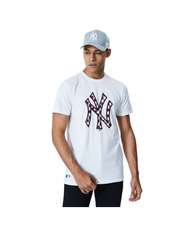 New Era T-Shirt MLB Infill Logo Tee New York Yankees - White