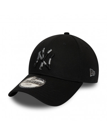 New Era Cappello Camouflage New York Yankees Infill 9FORTY - Black
