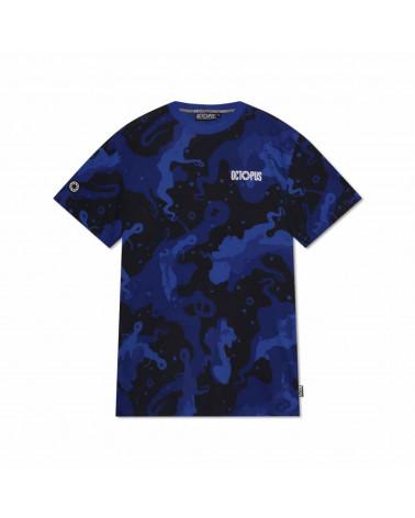 Octopus T-Shirt Camo Tee - Blue