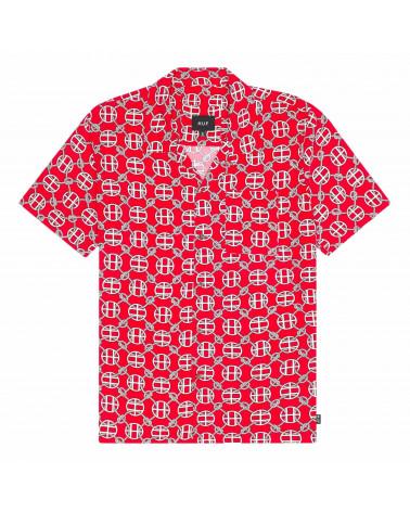 HUF Camicia Atelier Resort Woven Short Sleeve Shirt