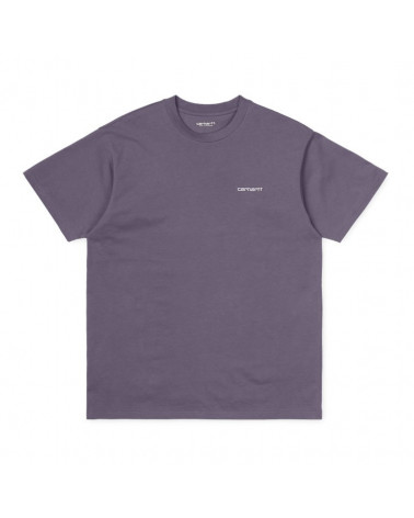 Carhartt Wip Script Embroidery T-Shirt - Decent Purple/White