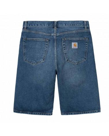 Pantaloncini Carhartt Pantaloncini Pontiac Short Blue Stone Bleached