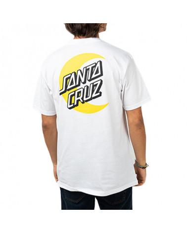 Santa Cruz T-Shirt Moon Dot Tee - White