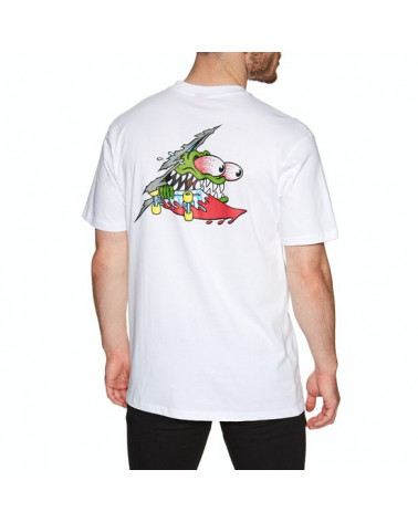 Santa Cruz Slashed Tee - White