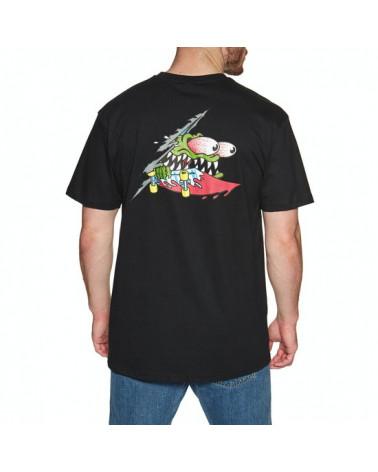 Santa Cruz Slashed T-Shirt - Black