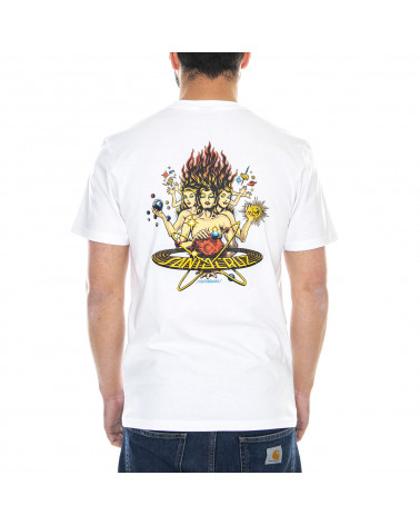 Santa Cruz Cosmica T-Shirt - White
