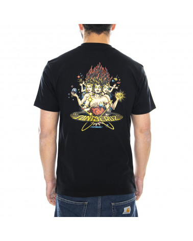 Santa Cruz Cosmica T-Shirt - Black