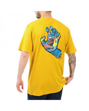 Santa Cruz Primary Hand T-Shirt - Mustard