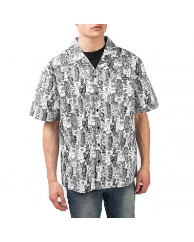 Santa Cruz Camicia Kendall Catalog Shirt - White/Black