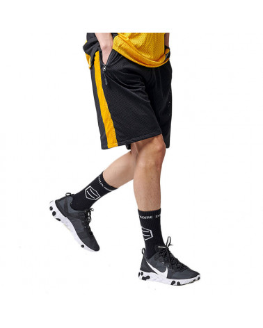Dolly Noire Dust Active Shorts - Black/Yellow