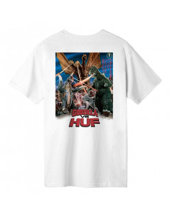 Godzilla VS HUF - Destroy All Monsters Tee - White