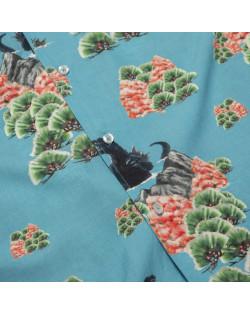 Godzilla VS HUF - Godzilla Resort Shirt - Blue