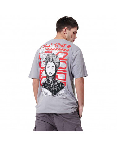Dolly Noire T-Shirt Metal Geisha - Grey