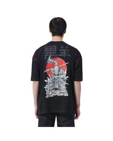 Dolly Noire T-Shirt Oversize Miyamoto Musashi - Black
