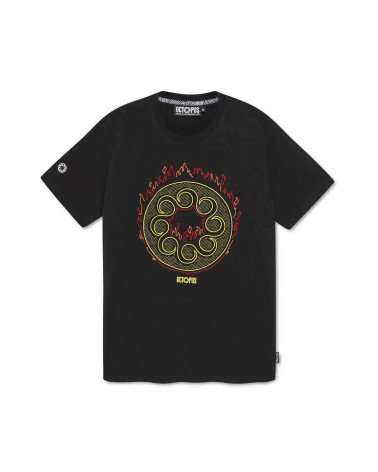 Octopus T-Shirt More Fire Logo Tee - Black