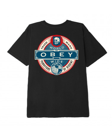 Obey Purveyors Of Dissent T-Shirt - Black