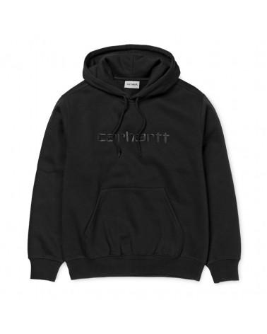 Carhartt Wip Felpa Hooded Carhartt Sweatshirt - Black/Black