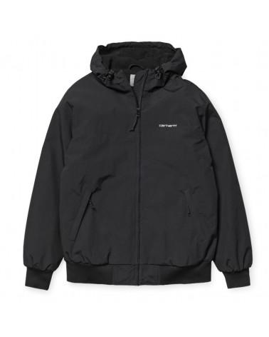 Carhartt WIP Hooded Sail Jacket - Black/White