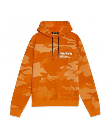 Iuter - Felpa Iuter Camo Hoodie - Orange