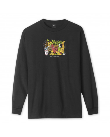 HUF The Munchies L/S T-Shirt - Black