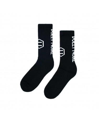 Dolly Noire Calze Vertical Logo Socks - Black