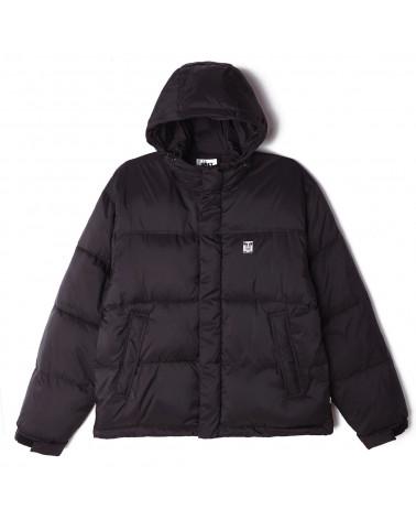 Obey Fellowship Puffer Jacket - Black