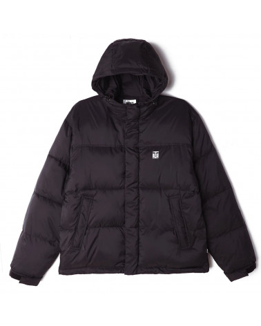 Obey Giacca Fellowship Puffer Jacket - Black