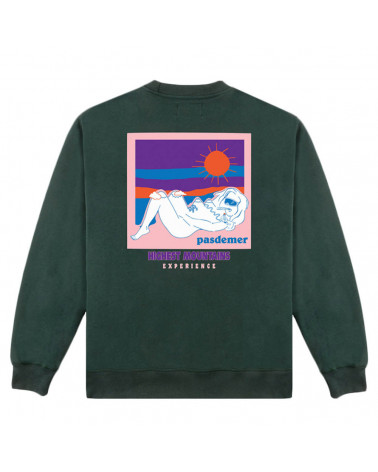 Pas De Mer Felpa Mountains Sweatshirt - Dark Green