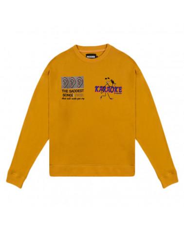 Pas De Mer Felpa Karaoke Sweatshirt - Mustard