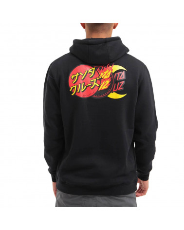 Santa Cruz Sweatshirt Dot Group Hood - Black