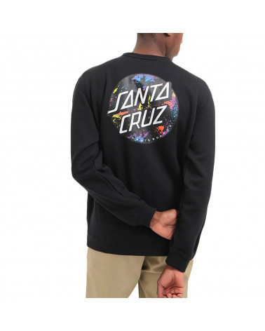 Santa Cruz Sweatshirt Dot Splatter Crew - Black