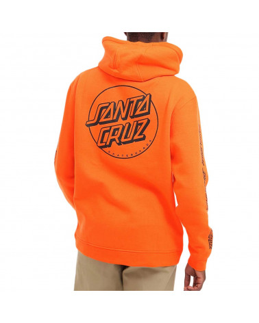 Santa Cruz Sweatshirt Opus Dot Stripe Hood - Hot Coral