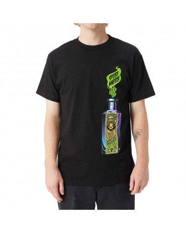 Santa Cruz Speed Wheels Snake Oil T-Shirt - Black
