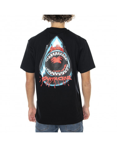 Santa Cruz Speed Wheels Shark T-Shirt - Black