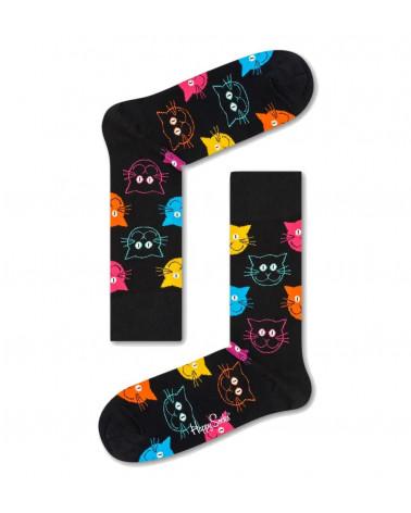 Happy Socks Calze Cat Sock  - Black