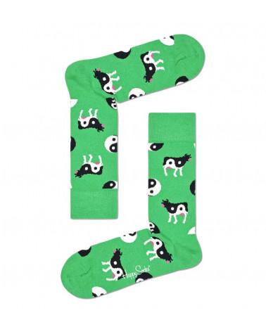 Happy Socks Calze Ying Yang Cow Sock - Green
