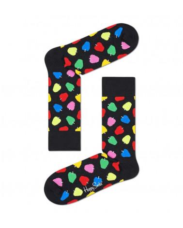 Happy Socks Calze Apple Sock - Black
