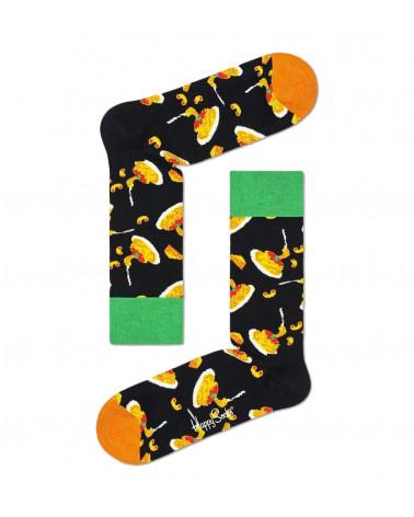 Happy Socks Calze Mac And Cheese Sock - Black