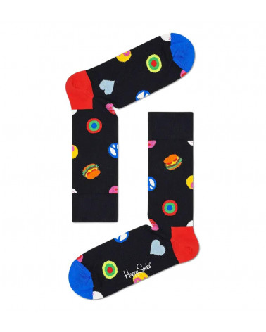 Happy Socks Symbol Dot Sock - Black