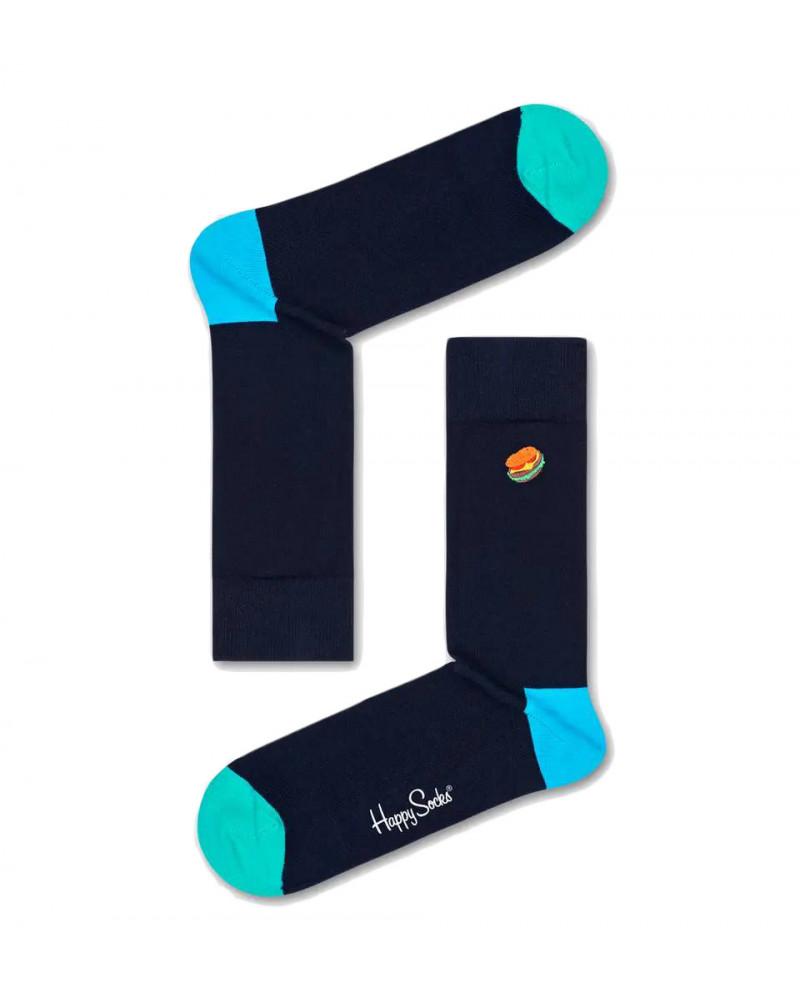 Happy Socks Calze Embroidery Hamburger Sock
