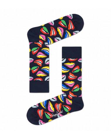Happy Socks Calze Lips Sock - Black