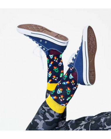 Happy Socks Calze Rocket Sock - Black