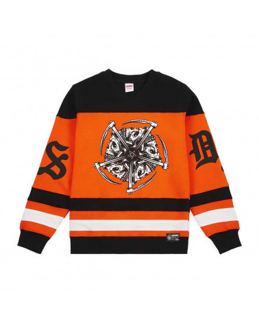 Doomsday Sweatshirt Star Hockey Crewneck - Black/Orange